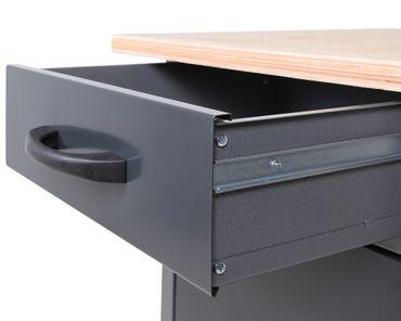 Werkstatteinrichtung 120 cm, Werkbank, Schrank, Lochwand - Werkzeugverwahrung – Bild 4