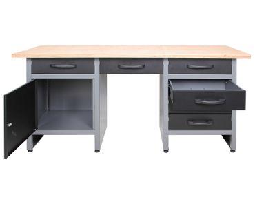 Werkstatteinrichtung 170 cm, 3x Schrank + Werkbank mit 6 Schubladen + LED – Bild 8