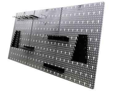 Werkstatteinrichtung 240cm, 2x Schrank, 2x Werkbank + 2x Lochwandset – Bild 6