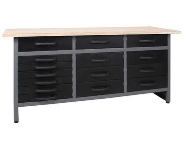Werkstatteinrichtung 170 cm Werkbank 15 Schubladen – Bild 8
