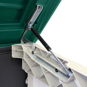Keter Max Mülltonnenbox Mülltonnenverkleidung Müllcontainer, Farbe: grün / beige – Bild 3