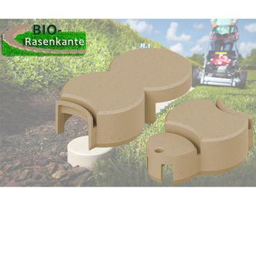 BIO-Rasenkanten-Anschlusssteine (2 Stück, 1 x kurz & 1 x lang), Farben: anthrazit, granitgrau & ziegelrot – Bild 7