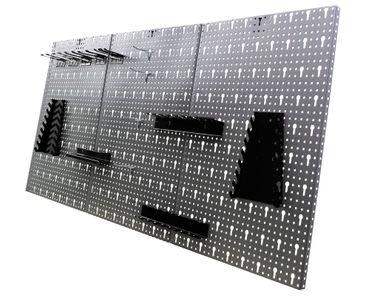 Werkstatteinrichtung 240 cm 2xWerkbank 2xHängeschrank 2xLochwand LED – Bild 2