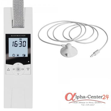 Rademacher RolloTron Comfort 1700 elektrischer Unterputz Gurtwickler, weiß + Sonnensensor und Anschlusskabel nach Wahl
