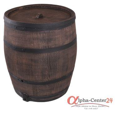 Eichenfass 350 Liter Regentonne Wasserbehälter, Kunststoff – Bild 1
