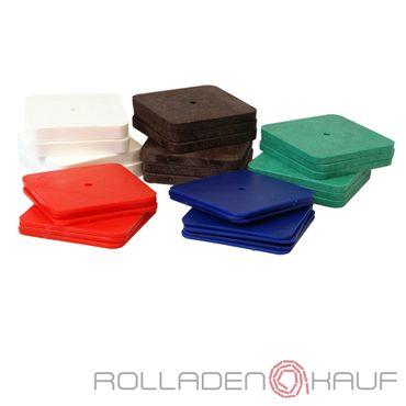 250 x Inovatec Kunststoff Unterlegplatten 70 x 70 Ausgleichsplatten Abstandshalter Niveauausgleich – Bild 1