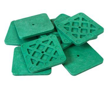 50 x Inovatec Kunststoff Unterlegplatten 70 x 70 x 2-10 mm Ausgleichsplatten Abstandshalter Niveauausgleich – Bild 9