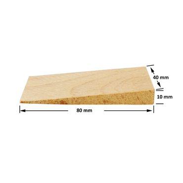 100 x Inovatec Holz Keile Hartholzkeile Buchenholz, natur in verschiedenen Abmessungen – Bild 2