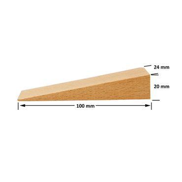 100 x Inovatec Holz Keile Hartholzkeile Buchenholz, natur in verschiedenen Abmessungen – Bild 7