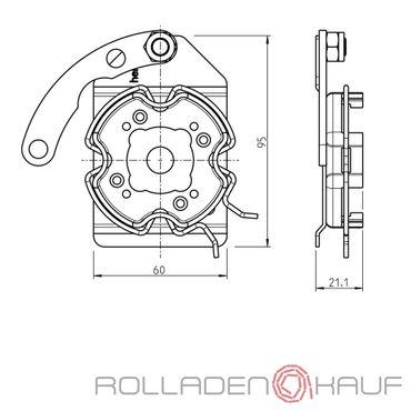 Rademacher Motorlager Medium Antriebe Clicklager Heroal Vorbauelemente Rechts für RTBS, RTCS, RTIS, RTFS, RTSS, RTBM, RTCM, RTIM, RTFM, RTSM