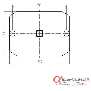 Rademacher Motorlager Medium Adapter für Handkurbel, 10er-Vierkant für RTBM HK