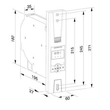 Rademacher RolloTron Standard Plus 1305 UW elektrischer Rolladen Unterputz Gurtwickler, weiß, 60 kg Zugleistung, 23mm Rolladengurt – Bild 2