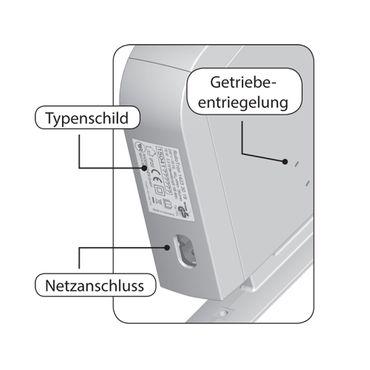 Rademacher RolloTron Schwenkwickler Standard Minigurt 1550 elektrischer Aufputz Gurtwickler Motor, weiß, ohne Display, 30 kg Zugleistung, 15mm Rolladengurt, 1550-UW – Bild 5