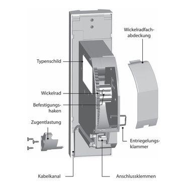Superrollo GW 255 elektrischer Unterputz Gurtwickler Motor, weiß, mit Display, 60 kg Zugleistung, 23mm Rollladengurt – Bild 7