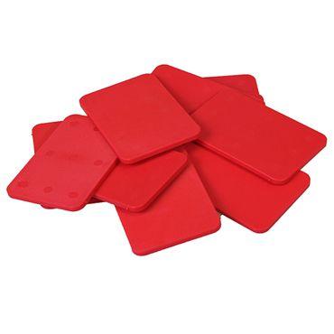 80 x Inovatec Kunststoff Unterlegplatten 60 x 40 x 1-20 mm Ausgleichsplatten Abstandshalter Niveauausgleich | Lieferung in praktischer Box mit Deckel – Bild 7