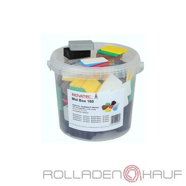 160 x Inovatec Kunststoff Unterlegplatten 60 x 40 x 1-20 mm Ausgleichsplatten Abstandshalter Niveauausgleich | Lieferung in praktischer Box mit Deckel – Bild 1