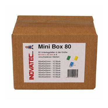540 x Inovatec Kunststoff Unterlegplatten 60 x 40 x 1-20 mm Ausgleichsplatten Abstandshalter Niveauausgleich – Bild 6
