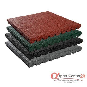 1m² = 4 Stück Granuflex® Fallschutzmatte 43 x 500x500mm Fallschutzfliese Gummiplatte Basic Line (4 Stück) – Bild 1
