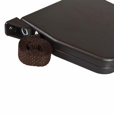 Aufschraubwickler Aufputz Gurtwickler Mini für Rolladen, 5 m Gurtband / Rolladengurt, braun – Bild 4