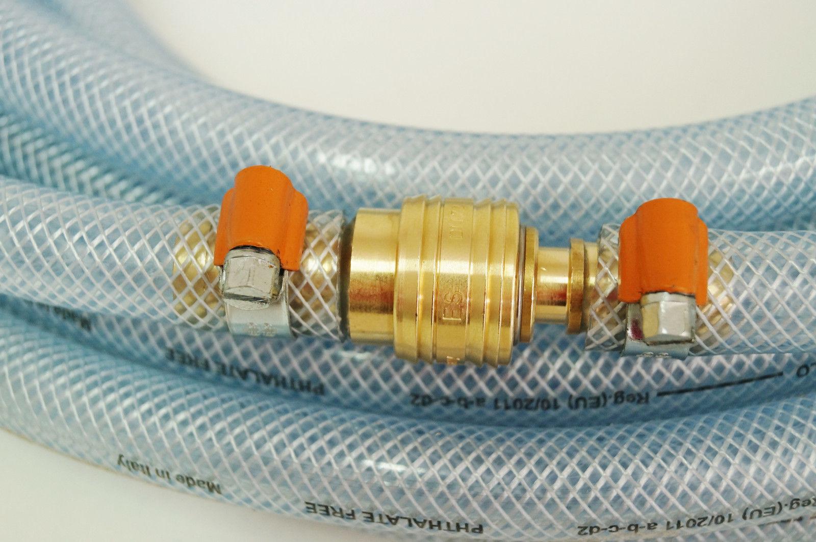 Kupplungen flexibel Gewebeschlauch Druckluftschlauch 13mm x 2,5mm 20m blau inkl