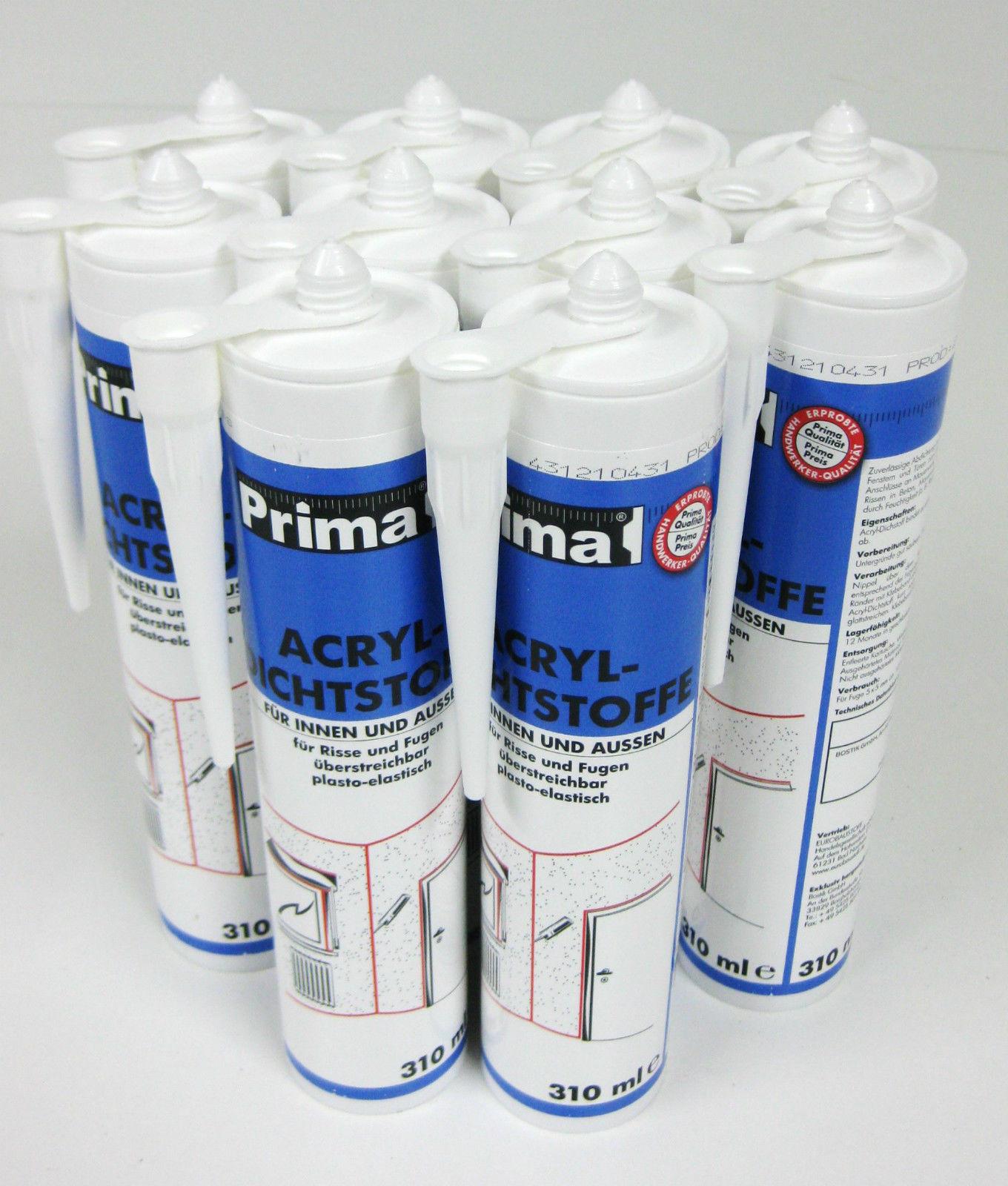 paket] 10x acryl bostik 300 ml weiß dichtstoff bauacryl dichtmasse