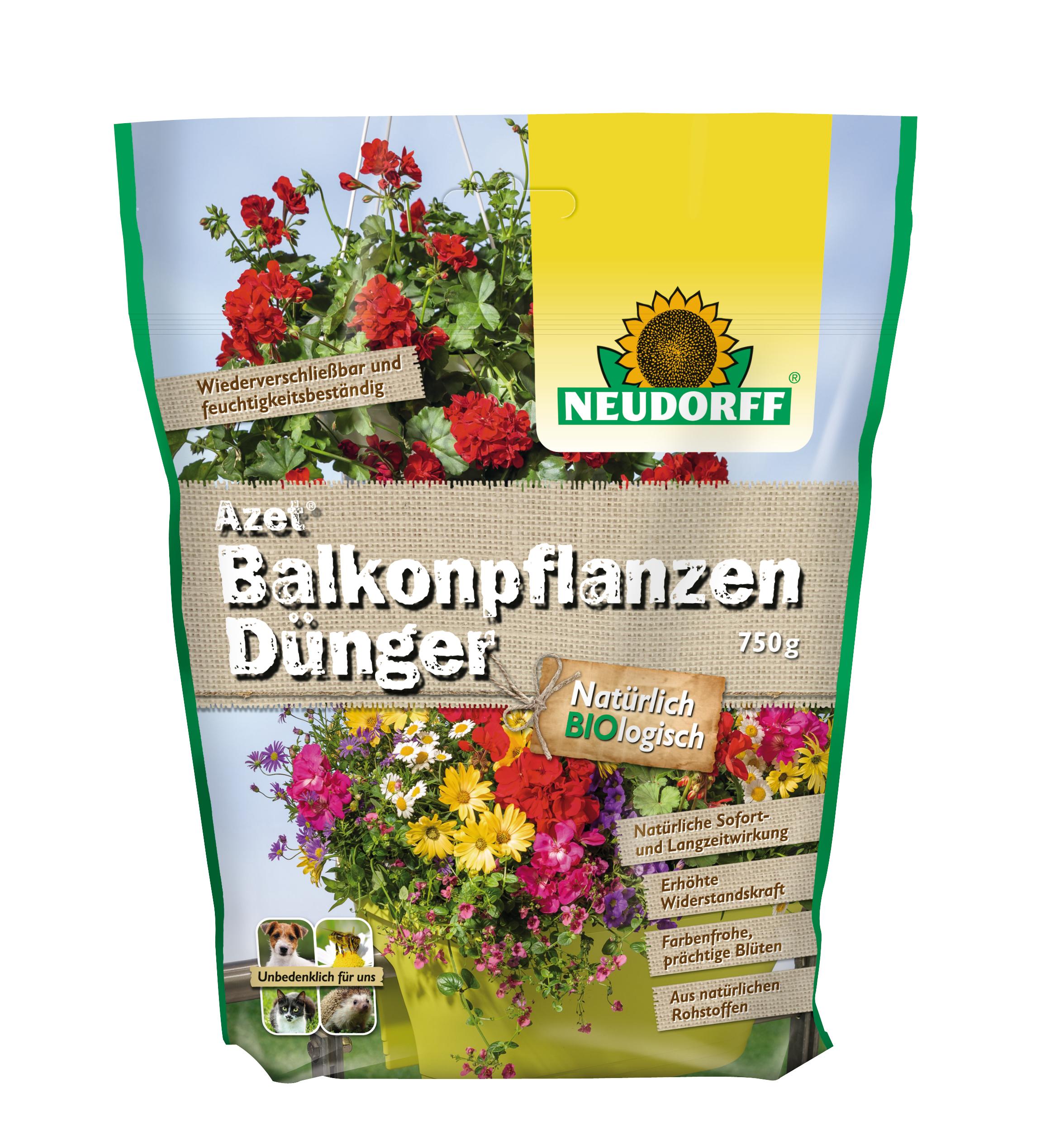neudorff azet balkonpflanzend nger 750 g organischer npk d nger 7 7 5 pfeifferer group eshop. Black Bedroom Furniture Sets. Home Design Ideas
