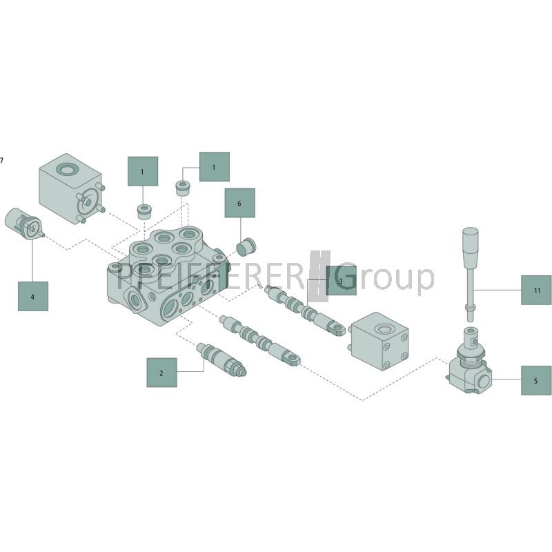WALVOIL Steuerkolben X-SD-5-K-5PY V-Nr 3CU1245620