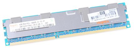 HP 4GB 2Rx4 PC3-10600R DDR3 Registered Server-RAM Modul REG ECC - 500203-061