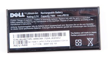 Dell Battery Akku Pack für PERC RAID Controller U8735 / 0U8735 Type: P9110