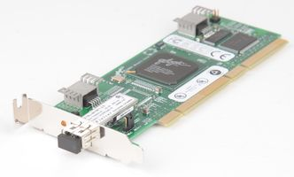 Qlogic Fibre Channel Card QLA2310FL PCI-X 2 Gbit/s Single Port / low profile