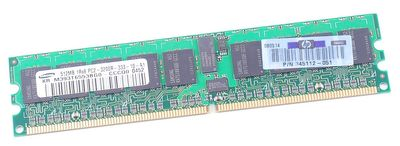 HP RAM Modul 512 MB PC2-3200R 345112-051 DDR2 ECC
