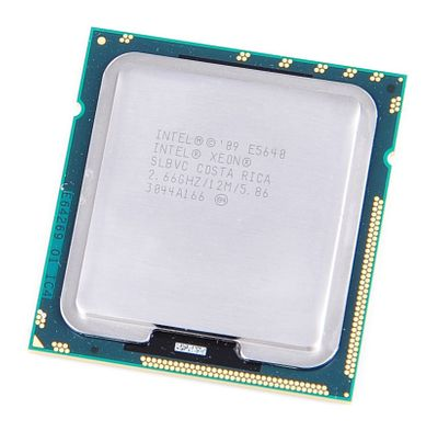 Intel Xeon E5640 Quad Core CPU 4x 2.66 GHz, 12 MB SmartCache, Socket 1366 - SLBVC