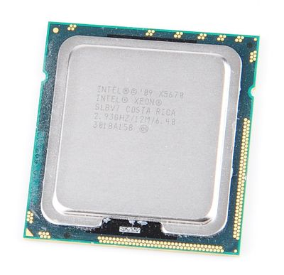 Intel Xeon X5670 Six Core CPU 6x 2.93 GHz, 12 MB SmartCache, Socket 1366 - SLBV7