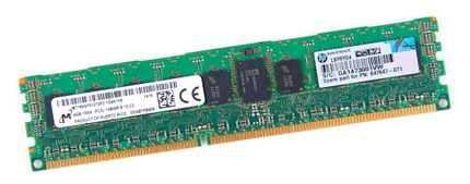 HP 4GB 1Rx4 PC3L-10600R DDR3 Registered Server-RAM Modul REG ECC - 664688-001 / 647647-071