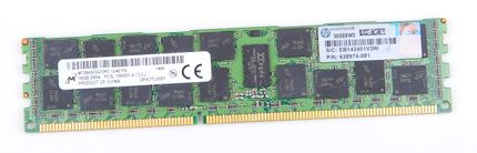 HP 16GB 2Rx4 PC3L-10600R DDR3 Registered Server-RAM Modul REG ECC - 628974-081