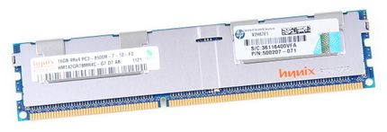 HP 16GB 4Rx4 PC3-8500R DDR3 Registered Server-RAM Modul REG ECC - 500207-071