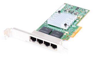 HP NC365T Quad Port Gigabit RJ45 Ethernet Server Adapter / Netzwerkkarte PCIe x4 - 593743-001