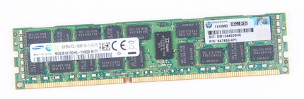 HP 8GB 2Rx4 PC3L-10600R DDR3 Registered Server-RAM Modul REG ECC - 647650-071
