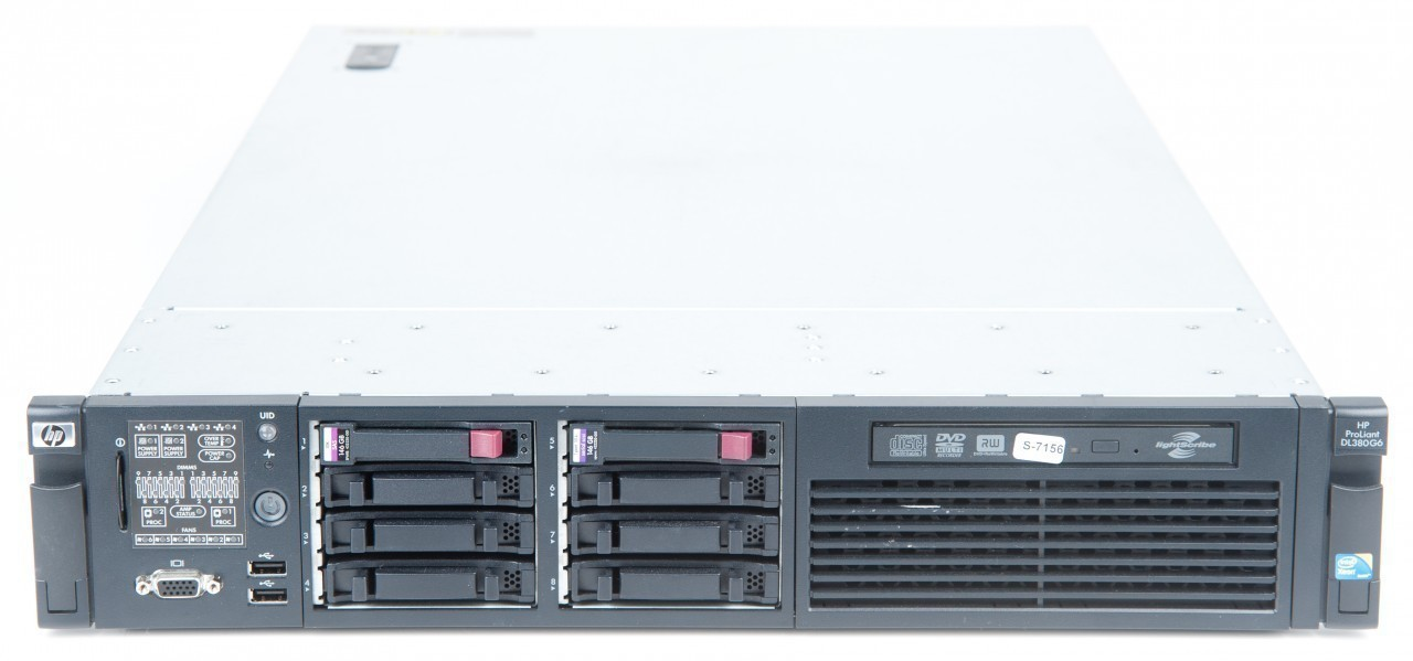 HP ProLiant DL380 G6 Server 2x Xeon X5672 Quad Core 3.2 GHz, 16 GB DDR3 RAM, 2x 146 GB SAS 10K