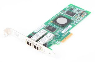 DELL QLE2462 Dual Port 4 Gbit/s Fibre Channel / FC Host Bus Adapter / HBA, PCI-E - 0KC184 / KC184