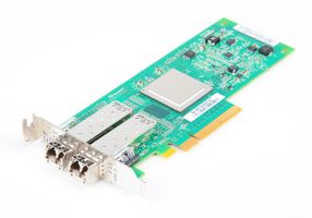 DELL QLE2562L-DEL Dual Port 8 Gbit/s Fibre Channel Host Bus Adapter / FC HBA, PCI-E - 0VX60F / VX60F - low profile