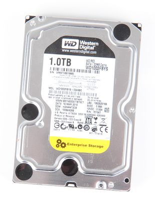 "Western Digital RE3 1000 GB / 1 TB 3G 7.2K SATA 3.5"" Festplatte / Hard Disk - WD1002FBYS"