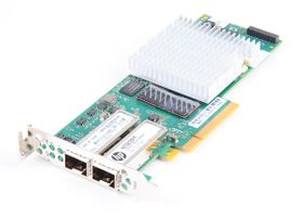 HP NC523SFP Dual Port 10 Gbit/s SFP+ Server Adapter / Netzwerkkarte PCI-E - 593715-001 - low profile