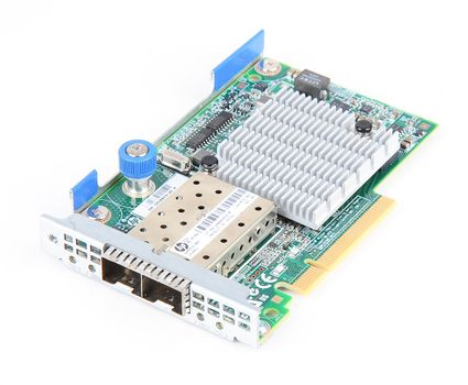 HP 530FLR-SFP+ Dual Port 10 Gbit/s SFP+ Server Netzwerkkarte FlexibleLOM Adapter - 649869-001 – Bild 1
