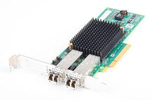 Fujitsu LightPulse LPE12002 Dual Port 8 Gbit/s Fibre Channel Host Bus Adapter / FC HBA, PCI-E - P002181-01B