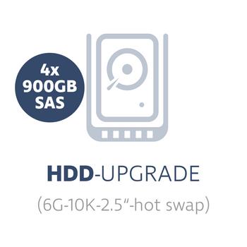 "HDD-upgrade to 4x 900 GB 6G 10K SAS 2.5"" hot swap hard disks with Smart Carrier – Bild 1"