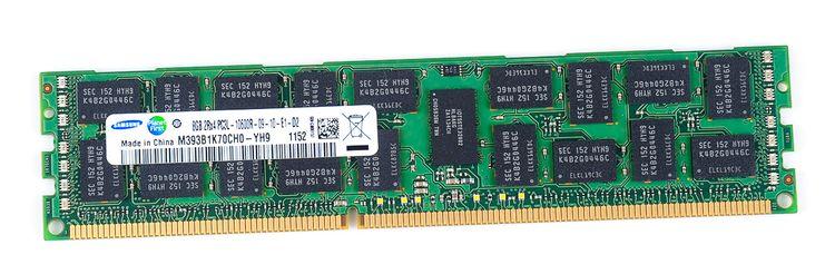 Samsung 8GB 2Rx4 PC3L-10600R DDR3 Registered Server-RAM Modul REG ECC - M393B1K70CH0-YH9 – Bild 1