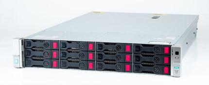 HPE Gen9 SSD & SATA Storage with 2x Xeon E5-2640v4 10-Core 2.4 GHz, 128 GB DDR4 RAM, 3.84 TB SSD + 64 TB SATA