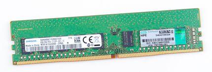 HPE 8GB 2Rx8 PC4-2133P-E / PC4-17000E DDR4 unbuffered Server-RAM Modul ECC - 797258-081 / 819800-001