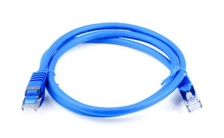 Cat.7 Patchkabel / Netzwerkkabel / Network Cable - RJ45, Cat.6a Stecker / Connector - 1m - blue